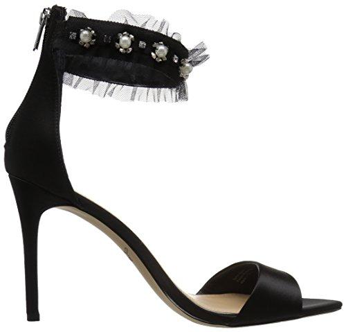 Mischka Heeled Sandal Badgley Jewel Abagail Black Women's 8AOq7w