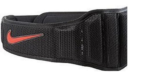 NIKE Structured Training Belt 2.0,X-Large(Black/Total Crimson) by NIKE