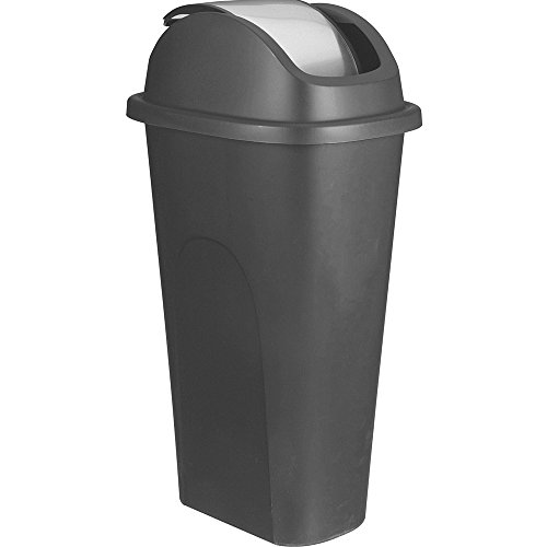 Slim Trash Can Swing Top Garbage Dispenser Plastic Rectangle Waste Basket Portable Rustproof Polypropylene Resin Kitchen Garage Indoor Waste Management Fits Narrow Spaces Removable Rim eBook BADAshop