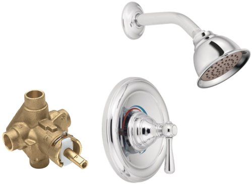 Moen T2112-2520 Kingsley Posi-Temp Shower Trim Kit with Valve, Chrome by Moen