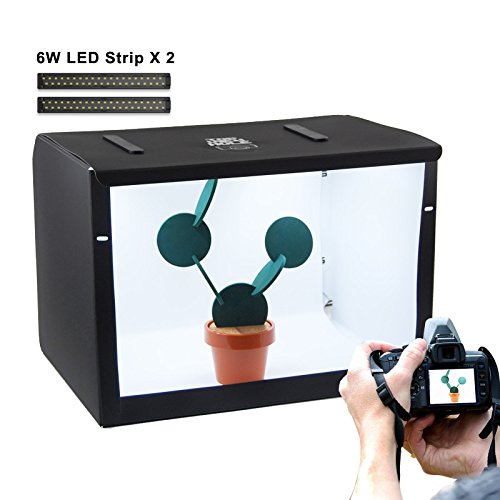 Portable Photography Light Box Shooting Tent, Size 20x16x16'' with Two Backdrops by TRIPROC