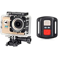 ESCENERY New Full HD 1080P 32G WIFI H16R Action Sports Camera Camcorder Waterproof+Remote+1200 Million High-Definition Wide-Angle Lens. (Khaki)