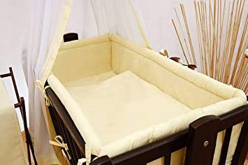 Pattern 24 6 Piece Baby Crib Bedding Set 90 x 40 + Terry Fitted Sheet Fits Rocking//Swinging Cradle -