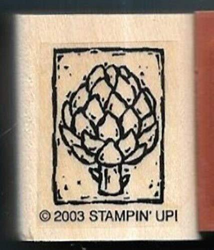 2003 Framed - Rubber Stamp Frames Artichoke Vegetable Framed Food New 2003 Wood Mount Rubber Stamp