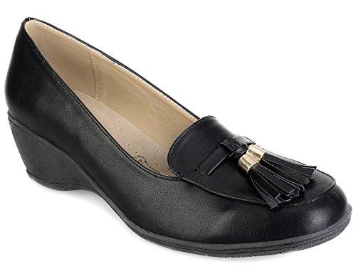 Greatonu Zapatos de Cuña con Borlas Adornas Para Mujer