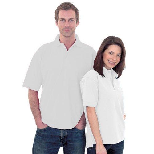 Uneek uc102poliéster/algodón Unisex Premium Pique Polo Camisa con Cuello Alto y Planteado puños de Punto