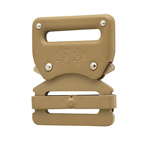 """Raptor I Tactical Military Police Aluminium Quick Release 1.5"""" Gürtelschnalle Coyote Brown"""