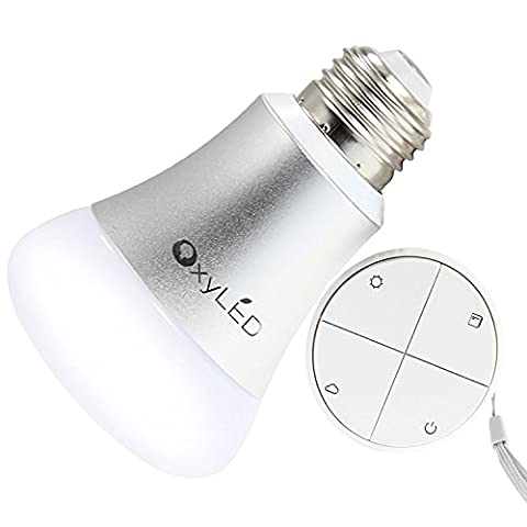 OxyLED EH301 Dimmable Led Light Bulb With Remote Control, 3 Way Dimming Color Changing Led Lamp Replacement Soft - 3 Color Led