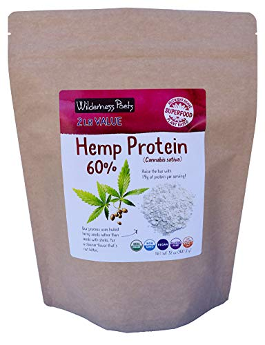 Wilderness Poets, Cold Pressed Organic Hemp Protein Powder, 19 G (32 Ounce - 2 Pound) in USA