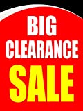 Big Clearance Sale Business Retail Display Sign, 18''w x 24''h, Full Color