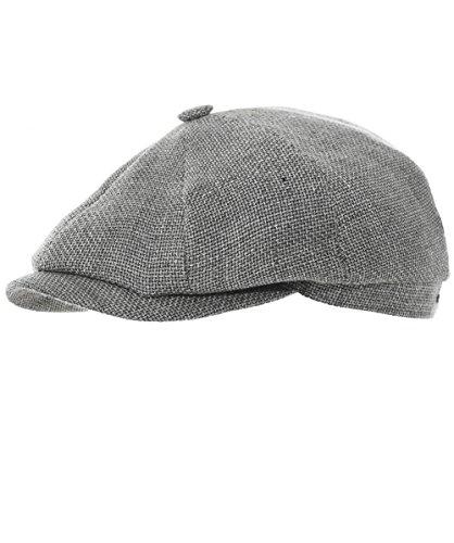 Stetson Men's Woven Linen Blend Hatteras Newsboy Cap 61cm ()