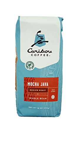 Caribou Coffee Mocha Java Whole Bean Medium Roast Coffee (1 - 16oz Bag)