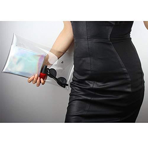 main Transparent femme PVC Sac Clair Enveloppe Sac Bourse à pour Argent Cluth 2 avec Clair Approuvé Sac Stade Rivet NFL PwwY4t