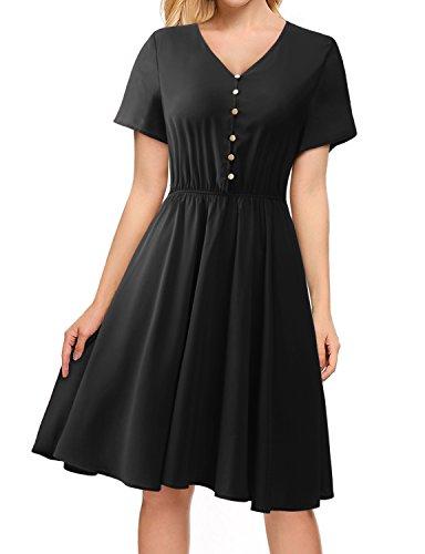 REGNA X BOHO Women's Midi Dress,02-black,Large