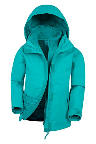 Mountain Warehouse Fell Kids 3 in 1 Jacket - Spring Triclimate Jacket Teal 7-8 Years