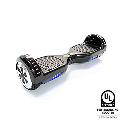 CXInWalk Hoverboard Self Balancing Scooter UL 2272 Certified with Powerful Bluetooth Speaker, Cool LED Lights and Free Portable Carrying Bag (Jet Black)