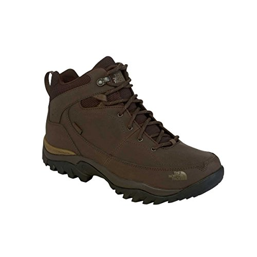 Le MID Hommes North Face Neige Frappe II Chaussures Brown T0CDH7T9M-10 Marcher