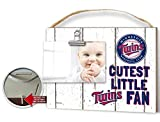 "KH Sports Fan 10""x8"" Weathered Minnesota Twins Clip It Baby Logo Photo Frame"