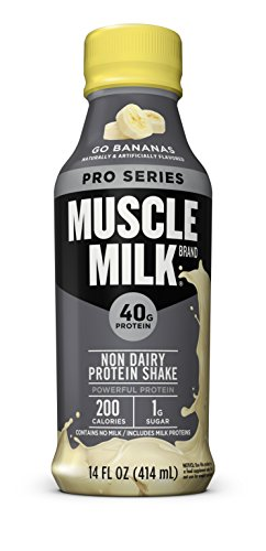 Muscle Milk Pro Series Protein Shake, Go Bananas, 40g Protein, 14 FL OZ, 12 count (Shake Protein High Muscle Lean)