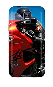 For AngelaPatrick Galaxy Protective Case, High Quality For Galaxy S5 A Man With His Motor Skin Case Cover