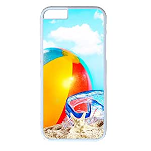 Hard Back Cover Case for iphone 6,Cool Fashion White PC Shell Skin for iphone 6 with Goggles Balloons and Starfish