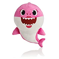 Meet the famous shark family singing plush doll. You won't be able to cuddle them enough! Squeeze the tummy to hear the baby shark song, the global sensation with over 3.3 billion views! Collect all 3 of your favorite sharks: baby shark, momm...