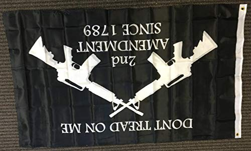 3×5 Dont Tread on Me Second Amendment M4 Rifle Double Sided Flag Protest Gun Review
