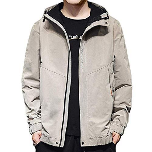 [해외]Men`s Coat HuiKai Hip Hop Splice Plus Size Zipper Pocket Hoodie Autumn Casual Thin Tops / Men`s Coat HuiKai Hip Hop Splice Plus Size Zipper Pocket Hoodie Autumn Casual Thin Tops Gray