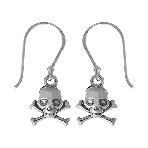 Boma Jewelry Sterling Silver Skull & Crossbone Earrings