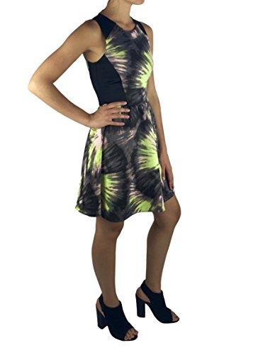 Combo Blocked Color Bar Black Dress XS Printed III Sleeveless xtZW0wqI0