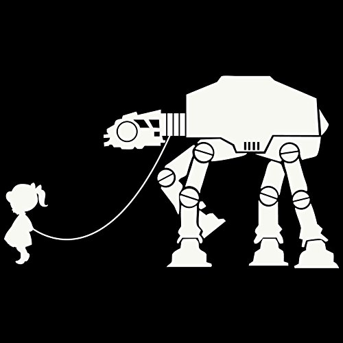 Bad Fish Custom Star Wars Imperial Walker Getting Walked Vinyl Decal Sticker - for Wall, Vehicle, Computer, Home Decor (7x4 inch, Gloss White) (Wall Decal Imperial Walker)