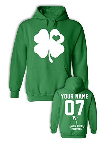 (Heart in Shamrock St Patricks Day Sweatshirt Girls - Saint Patricks Day Shirts - Long)