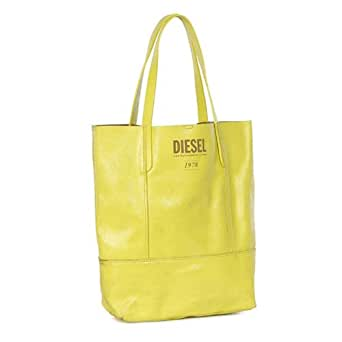 Diesel Dafne - Bolso de tela de cuero para mujer amarillo Yellow One size