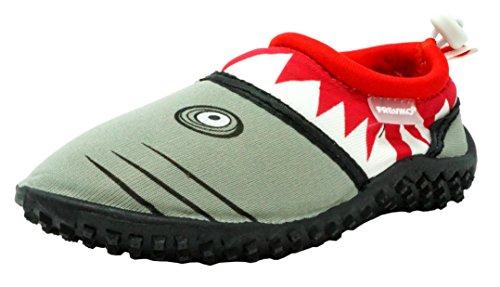 Fresko Toddler Water Shoes for Boys, Shark T1028, Red, 8 M US Toddler ()
