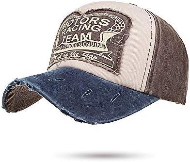 Gorra de algodón unisex Vendimia Lavar falso viejo sombrero borde ...