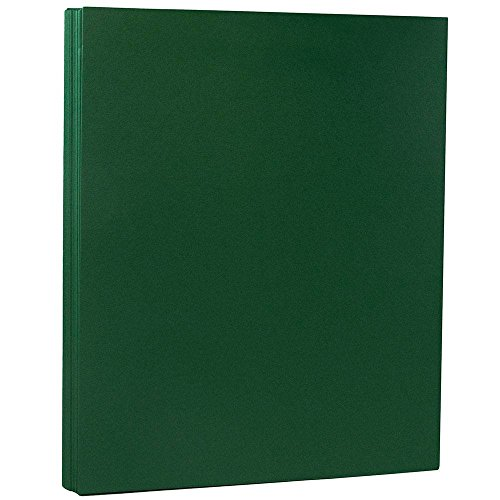 - JAM PAPER Matte 28lb Paper - 8.5 x 11 Letter - Dark Green - 50 Sheets/Pack