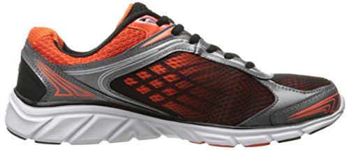 Fila Herren Memory Narrow Escape Cross-Trainer Schuh Schwarz / Dunkelsilber / Rot Orange