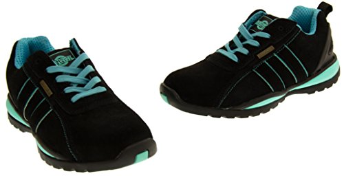 Northwest Territory Ottowa Black And Blue/Green Suede Leather Toe Cap Safety Shoes 8 B(M) US by Northwest (Image #6)