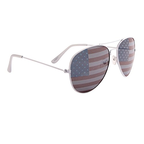 American Flag Aviators , sunglasses, america, patriotic, flag, white, 4th of July, Memorial Day, Election Day, - Aviator Flag American Sunglasses Wholesale