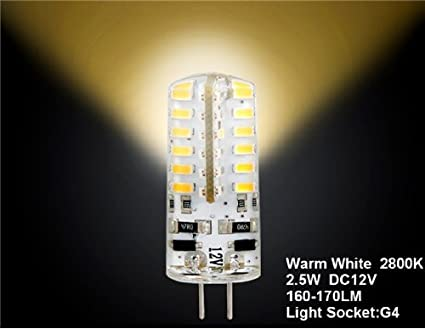 Amazon.com: G4-3014-48L-12V G4 2.5W 48 x 3014SMD Warm White ...