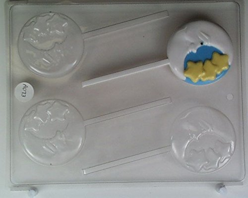 Moon w/ face, crescent w/ large stars AO073 All Occasion Chocolate Candy Mold (Chocolate Molds Moons And Stars)