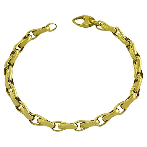 14k Yellow Gold Fancy Link Men