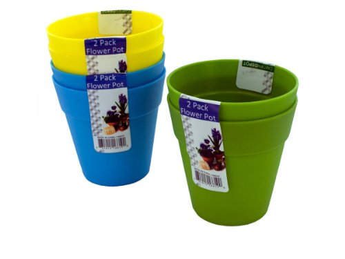 Plastic Flower Pots - Pack of 96 by Garden Depot