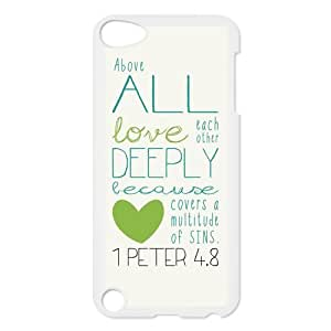 Generic Cell Phones Cover For Apple iPod Touch 5 case Bible Verse Design Plastic phone Cases Protective Shell Personalized Pattern Skin