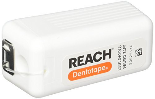 REACH Dentotape Waxed Tape, Unflavored 100 Yards (Pack of 6)