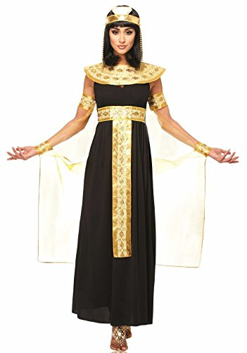 Goddessey Queen of the Nile Adult Costume - Womens, Black / Gold, Large