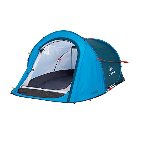 Quechua 2 Seconds Waterproof Pop Up Easy to Assembly Tent for 2 Man (Blue)