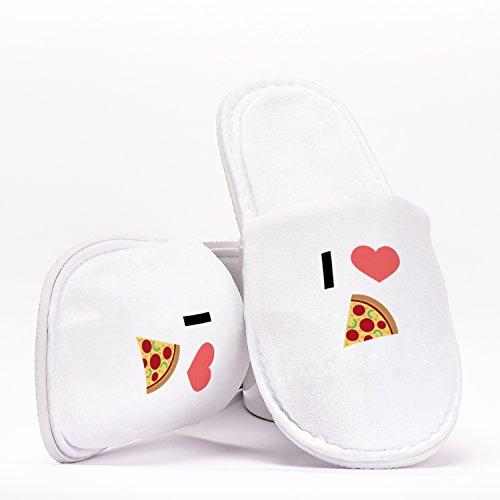 Hochzeiten Heart Emoji Junggesellinnenabschiede Love Reisen Geschenk Hausschuhe I Pizza Individuelles Geburtstage für Einheitsgröße w4tgnvq