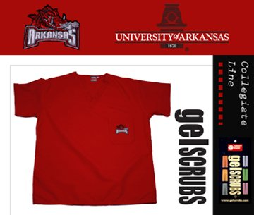 Arkansas Razorbacks Scrub Style Top from GelScrubs