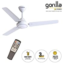 Gorilla Energy Saving BLDC White Ceiling Fan 1200 mm Sweep